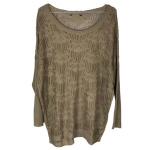 Unbranded Oversized Open Knit Sweater Light Brown